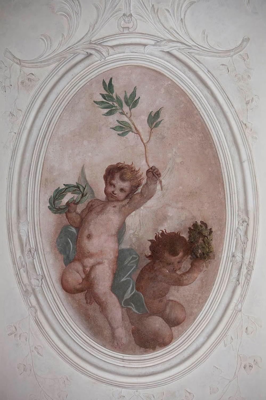 Bagnoli di Sopra_Dettaglio affreschi del Palazzetto Widmann