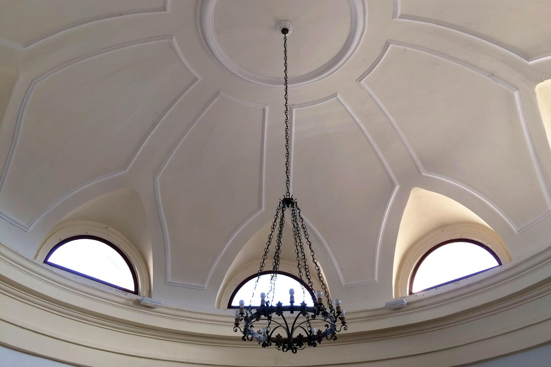 Anguillara Veneta_Dettaglio del soffitto dell'Oratorio del Capitello