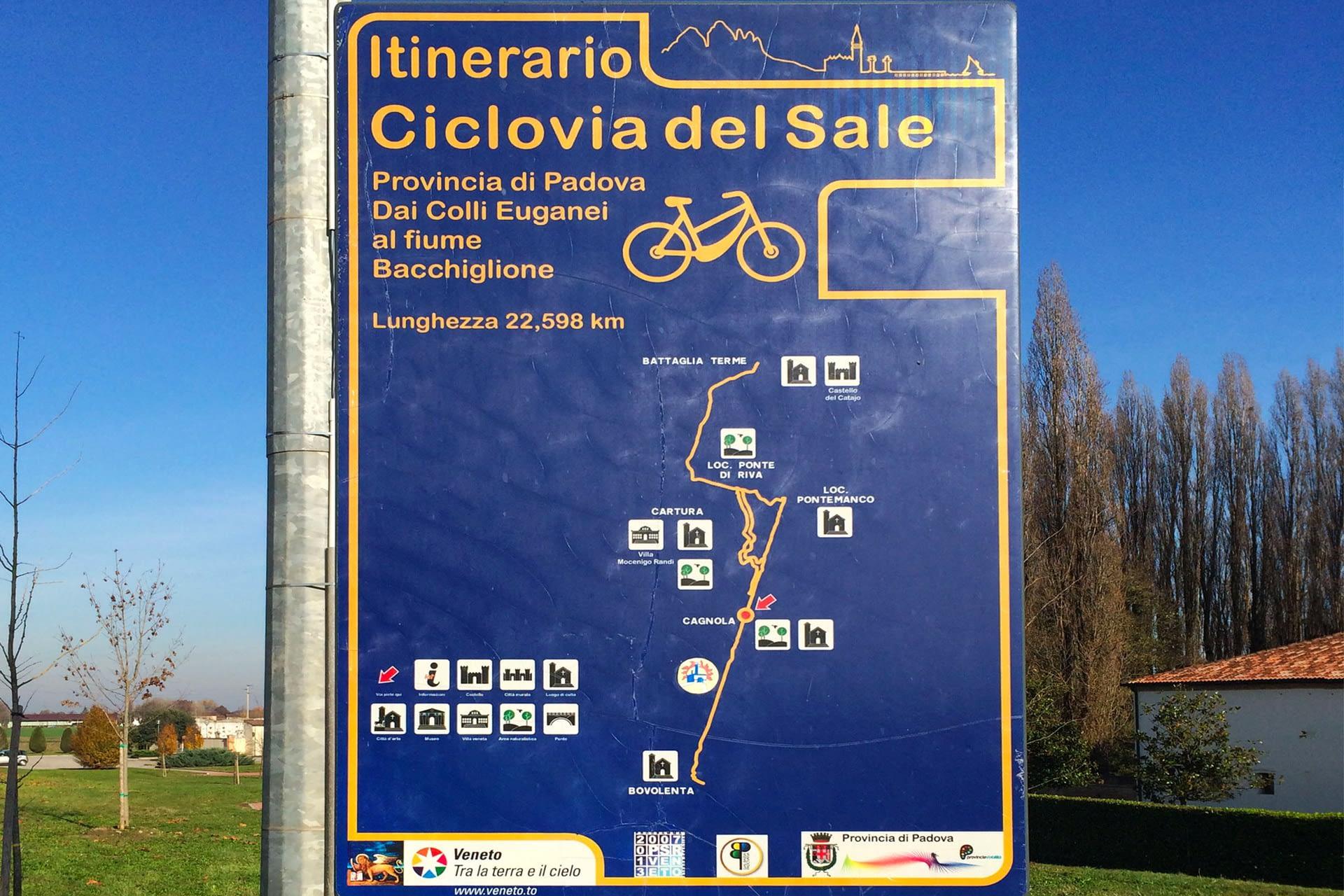 Cartura_Itinerario della Ciclovia del Sale
