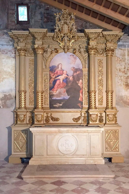 Anguillara Veneta_Altare dell'Oratorio presso Villa Arca del Santo