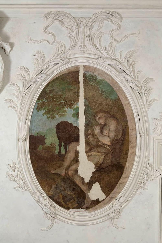 Bagnoli di Sopra_Dettagli affreschi Palazzetto Widmann