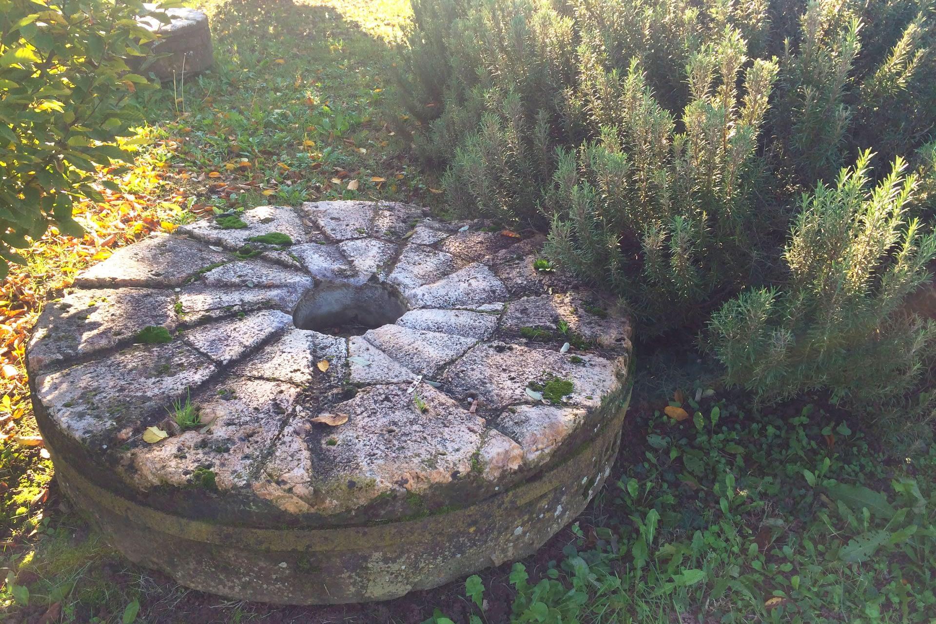 Pernumia_Dettaglio di antica ruota in pietra